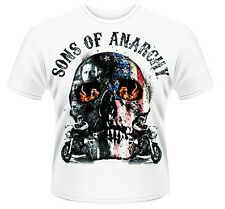 SONS OF ANARCHY FLAME SKULL UNISEX 100% OFFICIAL T-SHIRT M L XL XXL