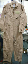 US MILITARY CWU-27/P DESERT TAN ARAMID FLIGHT SUIT COVERALLS VAR SIZES NWT