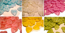 10 x HEART 2 HOLE 15MM PLASTIC BUTTONS FOR CARDMAKING SEWING DRESSMAKING