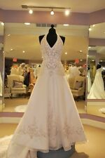 New Halter Wedding Dresses Gorgeous Bridal Ball Gowns Custom/Standard Size