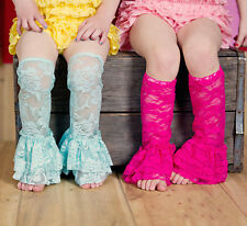 New co;orful baby Girl Lace Leg Warmers Tights Toddler Summer Leggings Socks