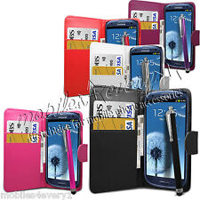 FLIP WALLET LEATHER CASE COVER FOR SAMSUNG GALAXY & FREE SCREEN PROTECTOR