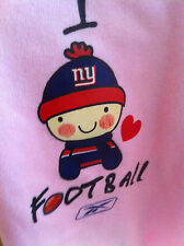NEW YORK GIANTS I LOVE ONE PIECE INFANT PINK OUTFIT 12-18 -24 MONTHS PICK ONE!