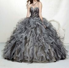 Sweetheart Beaded Quinceanera Dresses Ball Gown Prom Pageant Dress Size Custom