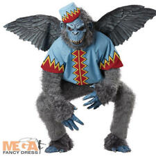 Deluxe Flying Monkey Mens Halloween Wizard of Oz Fancy Dress Adult Costume + Hat