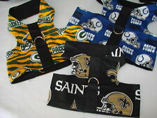 NFL & Sports harnesses, vests Size LARGE Adorable, many colors & sizes in store