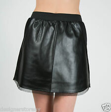 House of Harlow 1960 Pearl Faux Leather Mini Skirt