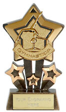GYMNASTICS STAR TROPHY INC ENGRAVING Choice of Gold, Silver or Bronze NEW