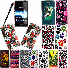 FOR SONY XPERIA T LT30i LT30P PRINTED HARD SHELL CASE COVER WITH 2 X GUARDS