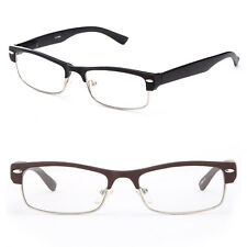 2 Pack Half Frame Reading Glasses Classic Black Flat Brown Readers Many Strength