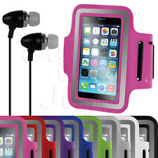 SPORTS FITNESS RUNNING JOGGING GYM ARMBAND COVER CASE + HEADPHONES EARPHONES