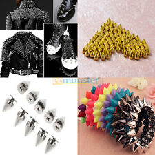 10mm / 9.5mm Metal Bullet Spikes Studs Rivets Cone Screwback Spots 14 Colors