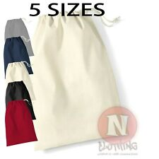 Cotton Drawstring Bag - Laundry storage toys, tidy, nappies craft school PE kit