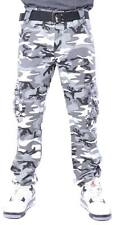 M. Society Authentic Quality Digital Belted Camouflage Army Military Cargo Pant