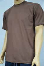 6 NEW PROCLUB S-5XLT HEAVY WEIGHT T-SHIRTS BROWN PLAIN TEE PRO CLUB BLANK
