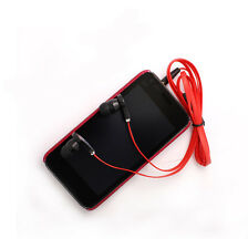 3.5mm In-Ear Earbud Earphone Headset Flat Cable Headphone for PC MP3 MP4 Phone