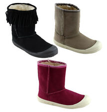 DUNLOP VOLLEY LADIES/WOMENS FASHION SUEDE BOOTS/SLIPPERS/WINTER BOOTS