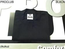 2 NEW PROCLUB HEAVY WEIGHT T-SHIRT BLACK PLAIN PRO CLUB BLANK S-7XL 2PC