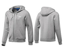 Adidas Originals Spo Hooded Floc Fitness Polycotton Hoodie Tops Grey