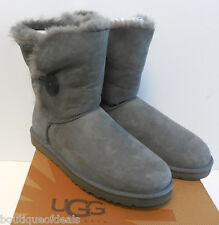 UGG Australia Womens Bailey Button Boots 5803 Grey NIB