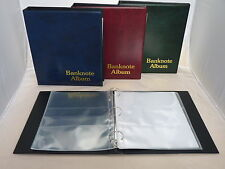 Red Classic Banknote Album Comes With 5 Pages 1 2 3 4 Mixed Pocket Dividers
