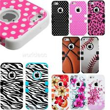 Apple iPhone 5/5S 6/6 Plus Hybrid Hard Case Silicone Gel Cover Image A Tuff MG