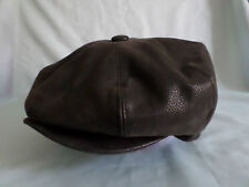 FAUX LEATHER 1920,S 1930,S VICTORIAN EDWARDIAN PEAKY BLINDERS CAP