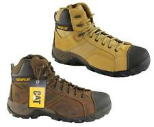 CATERPILLAR CAT ARGON HI SIDE ZIP MENS STEEL TOE WORK/SAFETY BOOTS/DURABLE