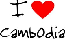 I Love Heart Cambodia Removable Wall Art Decal