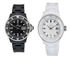 New ToyWatch Plasteramic Bracelet Baguette Crystal Dial Date Watch