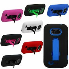 Zte Awe N800 Virgin Mobile Hybrid Hard Case Silicone Gel Cover Armor P Stand MG