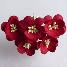 5 X Mulberry Paper Flowers CHERRY BLOSSOMS Paper Craft Flower Embellishments