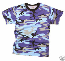 ELECTRIC BLAU TARNMUSTER CAMOUFLAGE T-SHIRT - 2XL