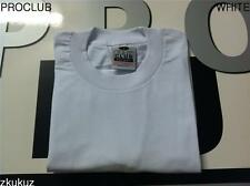 6 NEW PROCLUB HEAVY WEIGHT T-SHIRT WHITE PLAIN PRO CLUB BLANK S-7XL 6PC