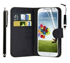 Leather Wallet Flip Case Cover Pouch For Samsung GT-I9500 Galaxy S4 I9505 S IV