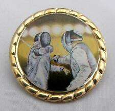 FENCING BADGE Fencer Foil Gift Club Team NEW
