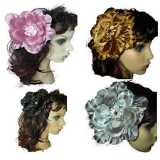Prom Hair Clip, Large Flower Brooch, Hair, Corsage, Large Hair Clip Fascinator