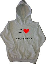 I Love Heart South Yorkshire Kids Hoodie Sweatshirt