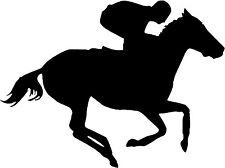 "Horse Race Jockey - 5"" x 3.75"" - Choose Color - Decal Vinyl Sticker #1348"