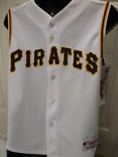 BOYS Youth Licensed Majestic PITTSBURGH PIRATES Baseball Jersey AUTHENTIC White