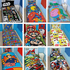 Disney Character TV Boys Kids Childrens Single Duvet Quilt Cover Bedding Set