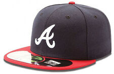 New Era Atlanta Braves Authentic Cap 5950 Basic Fitted Team Basecap 6 7/8-8