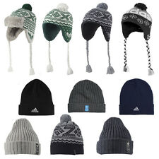 ADIDAS WOOLY HATS - MENS BOYS GIRLS FOLD-UP BEANIE WINTER WOOLY CAPS HATS