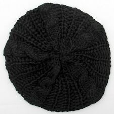 New Knitting Women's Beret Fashion Baggy Beanie Hat Ski Cap 10 Colors Elastic