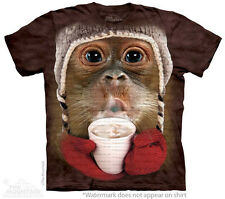 Orangutan Drinking Hot Cocoa The Mountain Adult & Child Size T-Shirts