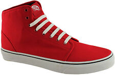 VANS 106 HI MENS RED HIGH TOP CASUAL SHOES/LACE UP GYM BOOTS/SNEAKERS/FASHION