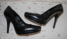 WOMENS Dress SHOES Luichiny Cindy Lou 4 Inch Heels Black Leather Sizes 7.5 9 10