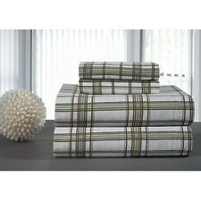 Pointehaven Sage Plaid Flannel Sheet Set