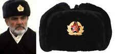 RUSSIAN STYLE MILITARY WINTER HAT/HATS WITH BADGE AND EAR FLAPS USHANKA WARM