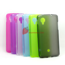 Resilient Matte Silicone Soft Gel Cover Case Back Skin For LG Google Nexus 5
